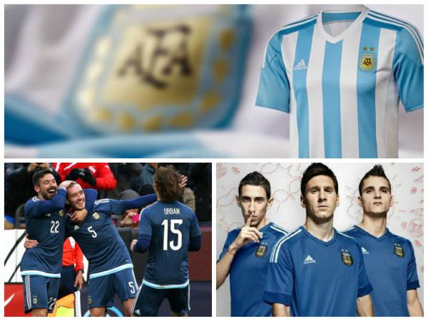 986ce13d5 Foram definidos os uniformes que a Seleção Argentina utilizará nas três  partidas iniciais da Copa Américas 2015