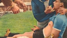 Desmaiado após empatar o jogo contra a Hungria