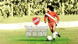 """Maradona não nasceu """"El Diez"""": há 40 anos, sua camisa e calça eram 16"""